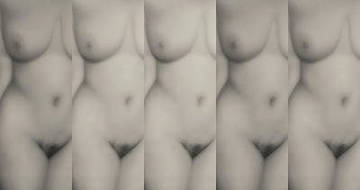 Digital Art - Nude Five Bnw by James Barnes