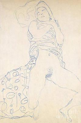 Drawing - Nude  Halbakt, 1913 by Gustav Klimt
