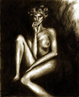 Drawing - Nude by Hiroko Sakai