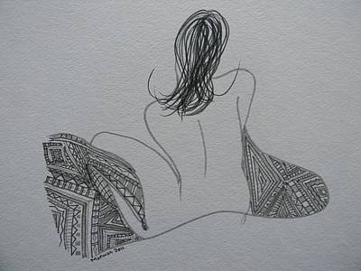 Drawing - Nude II by Marwan George Khoury