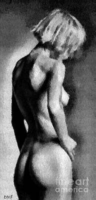 Figurative Painting - Nude In Black And White by Dragica Micki Fortuna