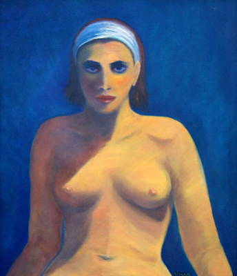 Painting - Nude In Blue by VIVA Anderson