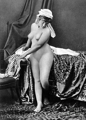 Photograph - Nude In Bonnet, C1885 by Granger