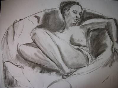 Nude In Chair Art Print by Adam Davis