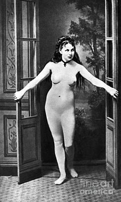 Painting - Nude In Doorway, C1865 by Granger