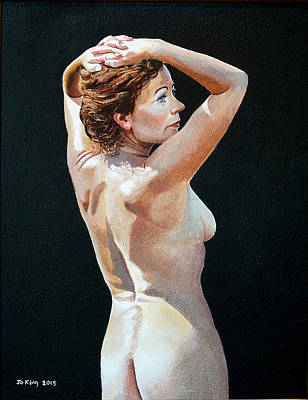 Painting - Nude In Sunlight by Jo King