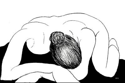 Drawing - Nude In Supplication by VIVA Anderson