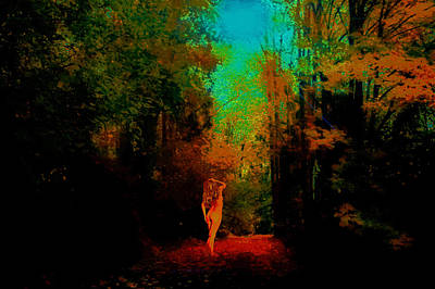 Nude In The Forest Art Print by Jeff Burgess