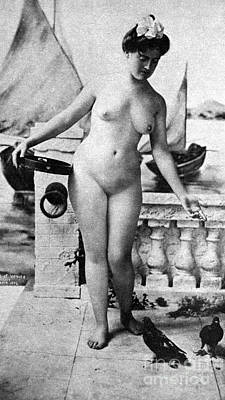 Photograph - Nude In Venice, 1902 by Granger