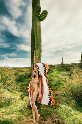 Photograph - Nude Cactus Girl by Amyn Nasser