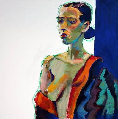 Female Figure Painting - Nude-j by Piotr Antonow