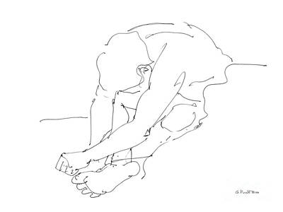 Nude Male Drawings 8 Original by Gordon Punt