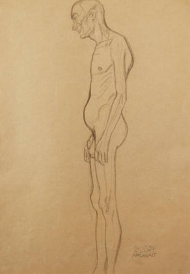 Nude Man Art Print by Gustav Klimt
