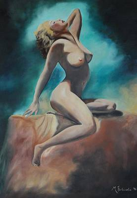 Nude Art Print by Margaret Fortunato