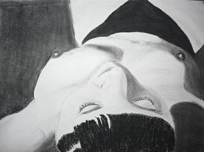 Drawing - Nude Napper by Cathy Jourdan