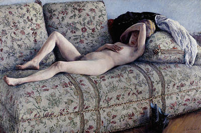 Painting - Nude On A Couch by Gustave Caillebotte