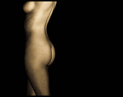 Nude On Black Art Print by Bob Orsillo