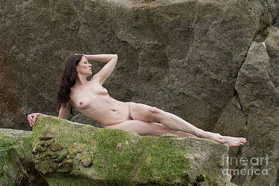 Photograph - Nude On Rocks by Clayton Bastiani
