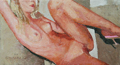 Nude On The Diagonal Print by Allan OMarra
