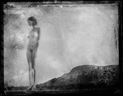 Photograph - Nude On The Fence, Galisteo by Jennifer Wright