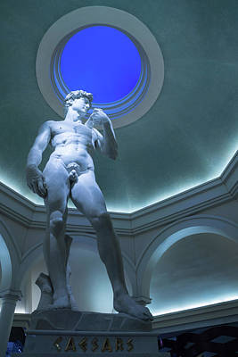 Photograph - Nude Perfection - Michelangelos David Under An Azure Oculus by Georgia Mizuleva
