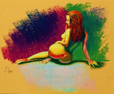 Painting - Nude Pose 4 by Angel Reyes