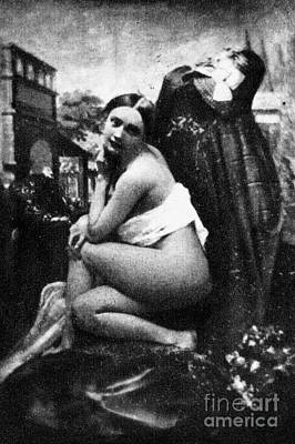 Photograph - Nude Posing, C1843 by Granger