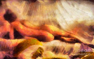 Temptation Painting - Nude Prudery 2 by George Rossidis