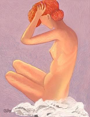 Digital Art - Nude Redhead by Caroline Street