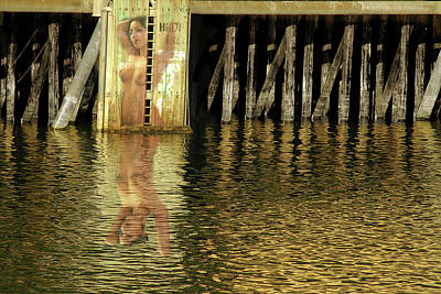 Nude Reflection Print by Harry Spitz