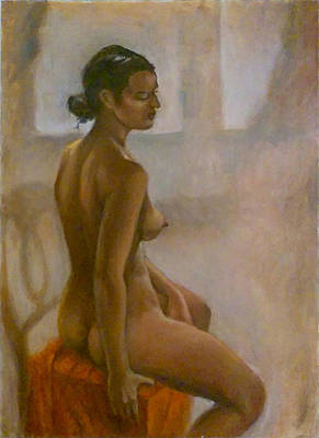 Painting - Nude by Sam Shacked
