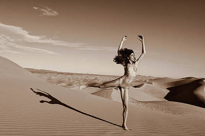 Photograph - Nude Sandy Dune Dance by Amyn Nasser