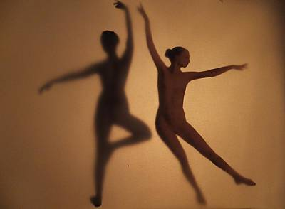 Shadow Dancing Mixed Media - Nude Shaddow Dancer by Anna Louise Middleton