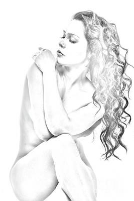 Nude Sketch Art Print