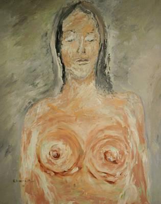 Nude Sleeping Art Print by Edward Wolverton