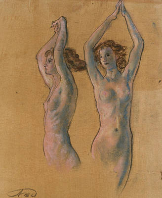 Pastel - Nude Studies by Arthur Bowen Davies