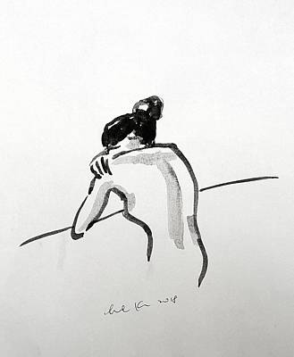 Drawing - Nude Study 031418 by Hae Kim