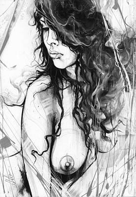Nude Study 073 Art Print by Leanne Dolan