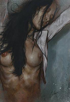 Nude Study 103 Art Print by Leanne Dolan