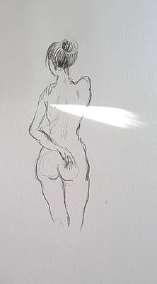 Drawing - Nude Study 111918 by Hae Kim