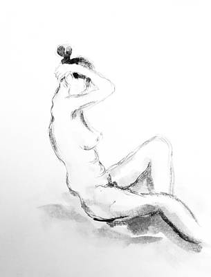 Drawing - Nude Study 11818 by Hae Kim