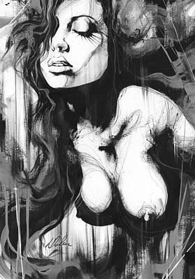 Nude Study 187 Art Print by Leanne Dolan
