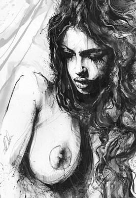 Nude Study 288 Art Print by Leanne Dolan