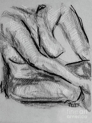 Upscale Drawing - Nude Study 4802 by Robert Yaeger