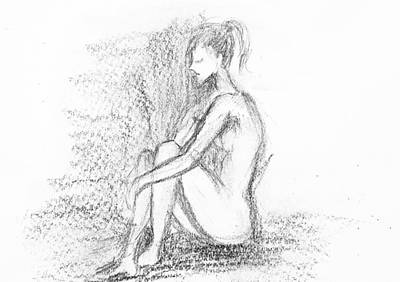 Drawing - Nude Study 62617 by Hae Kim