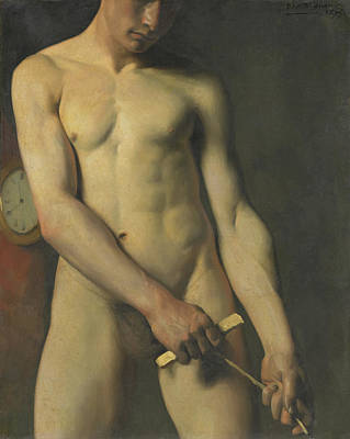 Painting - Nude Study Of A Man by Dagnan - Bouveret