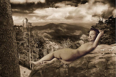 Digital Art - Nude Sunbather by John Haldane
