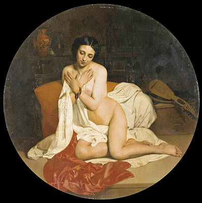 Painting - Nude With A Greek Vase by Theodore-Nicolas-Pierre Maillot