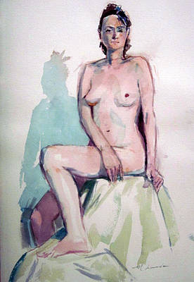 Painting - Nude With Cast Shadow by Mark Lunde