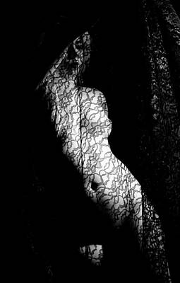 Photograph - Nude With Lace by Joe Kozlowski
